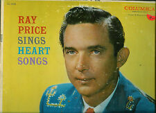 RAY PRICE SINGS HEART SONGS 33 1/3 RP-LP COLUMBIA CL1015 1ST LONG PLAY RELEASE
