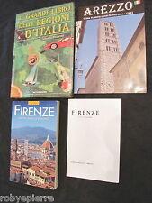 Lotto 4 libri guide il grande libro delle regioni d'Italia arezzo firenze mappa