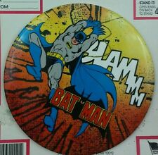 "Vintage DC COMICS 1989 BATMAN Pinback 6"" Button NEW on Card Stock"