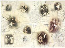 A / 4 CLASSIC DECOUPAGE LIBRO Scrapbook foglio vintage bambini