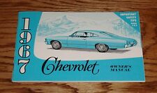1967 Chevrolet Owners Operators Manual 67 Impalla Caprice