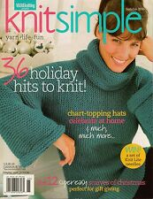 Vogue KNIT SIMPLE Holiday 2006 Xmas Gifts Elf Scarf Hat Sweaters XL Sizes VTNS