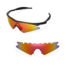 New WL Polarized Fire Red Vented Replacement Lenses for Oakley M Frame Sweep