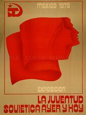 ADVERTISING EXHIBITION SOVIET YOUTH RED FLAG COMMUNISM MEXICO POSTER PRINT LV849