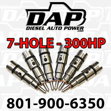 +300HP Performance Injectors 24v 300 HP, 7 x.014 For Dodge Cummins Diesel