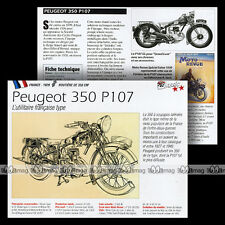 PEUGEOT 350 P107 1929 - Fiche Moto Classic Motorcycle Card MRC
