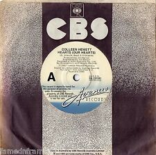 "COLLEEN HEWETT - HEARTS (OUR HEARTS) - RARE 7"" 45 PROMO VINYL RECORD - 1982"
