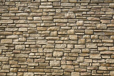 6 SHEETS  EMBOSSED BUMPY stone wall 21x29cm SCALE 1/6 CODE d6C2ge5