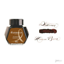 Waterman 50 ml Bottle Fountain Pen Ink, Absolute Brown (Havana Brown)