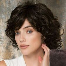 Short Dark Brown Curly Human Hair Wig Hair Fashion Women 100% Real Hair!