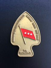 REAL Challenge Coin USASOC Commanding General (3rd) LTG Bryan D. 'Doug' Brown