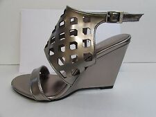 Calvin Klein Size 6.5 M Pewter Wedge Heels New Womens Shoes