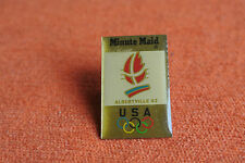 10547 PIN'S PINS JO ALBERTVILLE 92 OLYMPIC WORLD GAMES MINUTE MAID USA