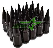 24 BLACK SPIKE LUG NUTS 12x1.25   FITS INFINITI G35 G37 Q50 Q60 Q70