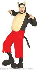 Mens Wolf Animal Big Bad Wolf Red Riding Hood Book Fancy Dress Costume Outfit