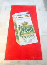 Antique Old Huge Rare & Big Size PEDRO Cigarettes Ad Porcelain Enamel Sign Board