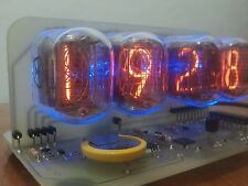 IN-12 NIXIE TUBES CLOCK WITH BLUE BACKLIGHT