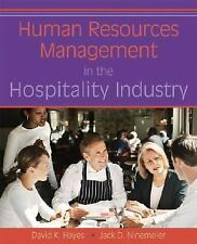 Human Resources Management in the Hospitality Industry by David K. Hayes and...