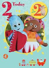 IN THE NIGHT GARDEN 2 TODAY 2ND BIRTHDAY CARD & BADGE NEW GIFT