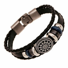 Fashion Leather Cute Infinity Charm Wrap Women Bracelet Jewelry Punk Style New x