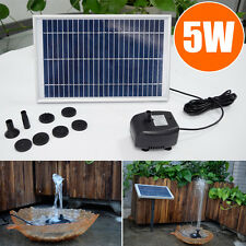 5W 12V Solar Powered Panel Water Pump Fountain Kit Pool Garden Pond Submersible