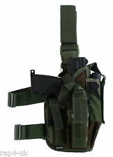 Leg Holster Right Hand (Large) Woodland  - fits Tippmann TiPX & Tiberius [AU2]