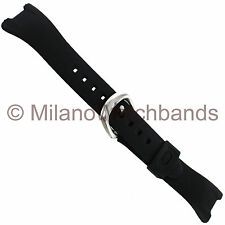 16mm Timex Ironman Plain Black Rubber Mens Sport Replacement Watch Band TX253151