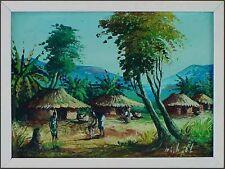 Top Wandbild, signiert, Afrika  Dorf in Kenia xxxxxxxxxx