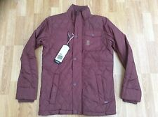 MENS CROSSHATCH QUILTED PADDED FASHION JACKET / COAT OXBLOOD RED SIZE L