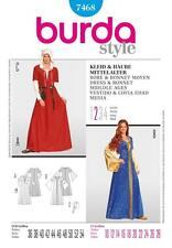 BURDA SEWING PATTERN LADIES DRESS & DONNET MIDDLE AGES SIZES 10 - 28 7468