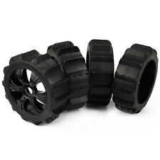 4×Snow Tyre / Sand Paddle Tires & Wheels Hex 17mm for HPI RC 1/8 Baja Buggy New