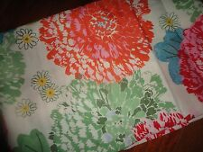 "FOOD NETWORK GARDEN PARTY FLORAL PINK BLUE GREEN ROUND TABLECLOTH 70"" POLYESTER"