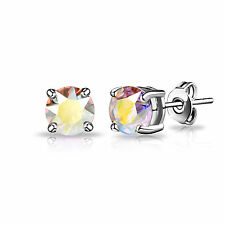 Aurora Borealis Shimmer Stud Earrings with Crystals from Swarovski® in Gift Box
