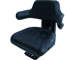 Quality Universal Suspension Seat FORKLIFT/DUMPER/MOWER/TRACTOR Black Vinyl