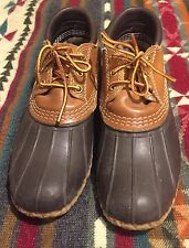 "LL BEAN Boot Low Moccasin Brown Tan Leather Women's Size 7 8 9.5"" Insole"
