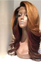 "16""  #1b T#30 Ombre Brazilian Body Wave Glueless Full Lace Wig with Baby Hair"