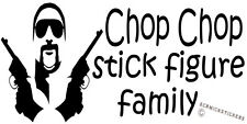 FUNNY FAMILY STICKER CHOP CHOP STICK FIGURE FAMILY CHOPPER READ STICKER