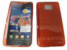For Samsung Galaxy S 2 S2 GT i9100 i9103 Gel Case Protector Cover Red New
