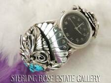 """HUGE MENS APACHITO Sterling Silver Heavy Hand Crafted WATCH 7 1/4"""" CUFF BRACELET"""