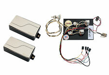 Fishman Fluence Modern Humbucker Pickup Set, Nickel + Prewired Les Paul Harness