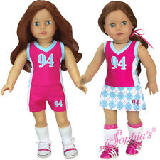 "3 Piece Sports Uniform Field Hockey Soccer Lacross fit 18"" American Girl Doll"