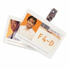 """Gbc Heatseal. Id Badge Prepunched Laminating Pouches - 2.56"""" Width X 3.75"""""""