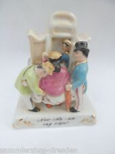 22439 PorzellanFigur Villeroy & Boch Dresden Now Ma-am say when ? 10cm porcelain