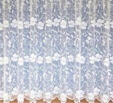 "POPPY WHITE NET CURTAIN SAMPLE - Half Meter 36"" - Try before you buy more"