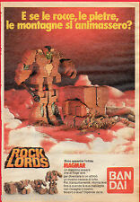 Pubblicità Advertising 1986 BANDAI ROCK LORDS Magmar