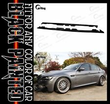 CARKING GLOSSY BLACK PAINTED 06-09 BMW E90 M3 use SIDE SKIRTS EXTENSION PANEL