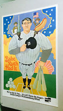 vintage advertisement poster pin-up Babe Ruth had it Union Camp 1973 Ad promo