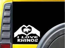 Rhino Hands Heart Sticker k040 8 inch zoo animal decal