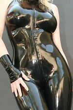 latex Rubber Bodysuit Stylish Suit Full-body Tights Black Catsuit Size XS-XXL