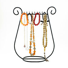 New Black Metal Jewelry Fashion Harp Necklace Chain Holder Rack Stand Decoration